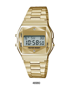 Gold Sports Metal Band Watch