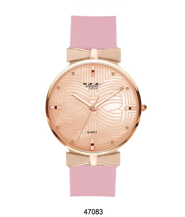 Pink Silicon Band Watch
