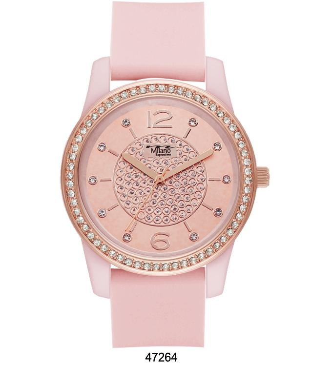 Pink Silicon Band Watch with Pink