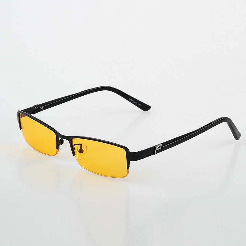 Half-framed antiblue ray anti-radiation protective eye-wear glasses computer mirror