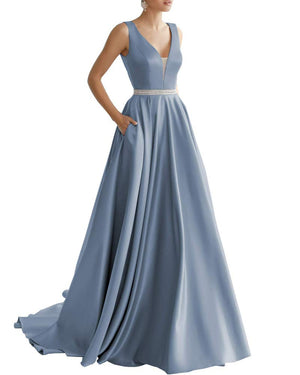 V Neck Formal Dress
