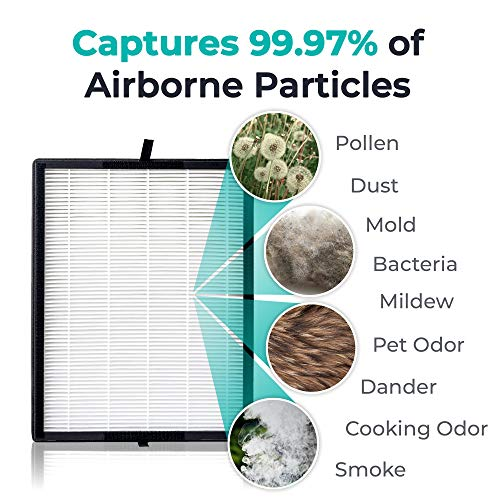 Alen BreatheSmart 45i Air Purifier for Large Rooms up to 800 Sqft, H13 True HEPA, Air Quality Auto Sensor, Removes Allergens while Eliminates Bacteria, Germs, Mold, Odor from Smoke, in Weathered Gray