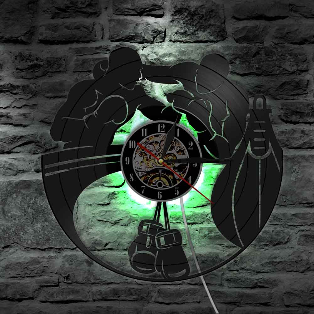 Boxing Gloves Vinyl Wall Clock