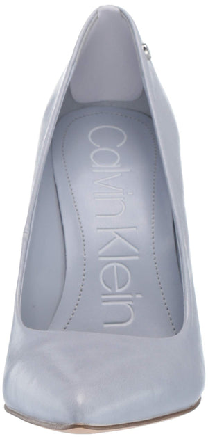 Calvin Klein Women's Brady Pump, Cornflower Varnished Crackle Leather.