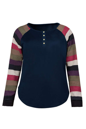 Women's Henley Shirts Plus Size Blouse