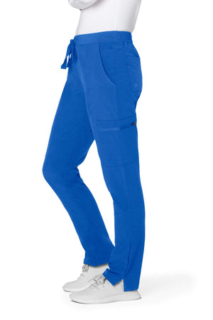 Adar Addition Scrub Set for Women - V-Neck Scrub Top & Skinny Cargo Scrub Pants - A9200 - Royal Blue - M