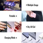 Gel Nail Polish Starter Kit with UV Light