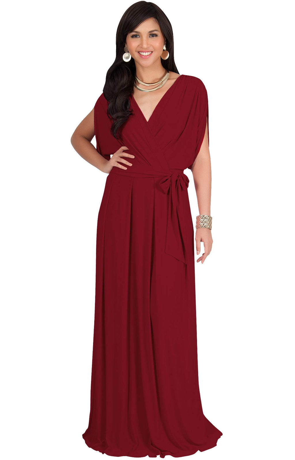 Short Sleeve Cocktail  V-Neck Casual Maxi Dress plus sized