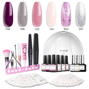 Gel Nail Polish Kit with UV Light.