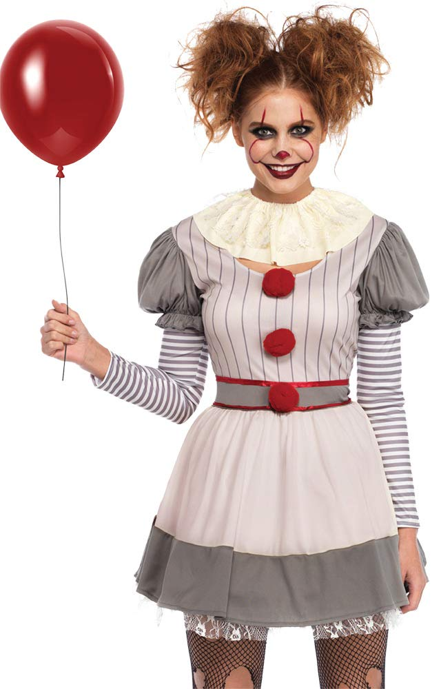 Leg Avenue Women 2 piece creepy clown costume x large