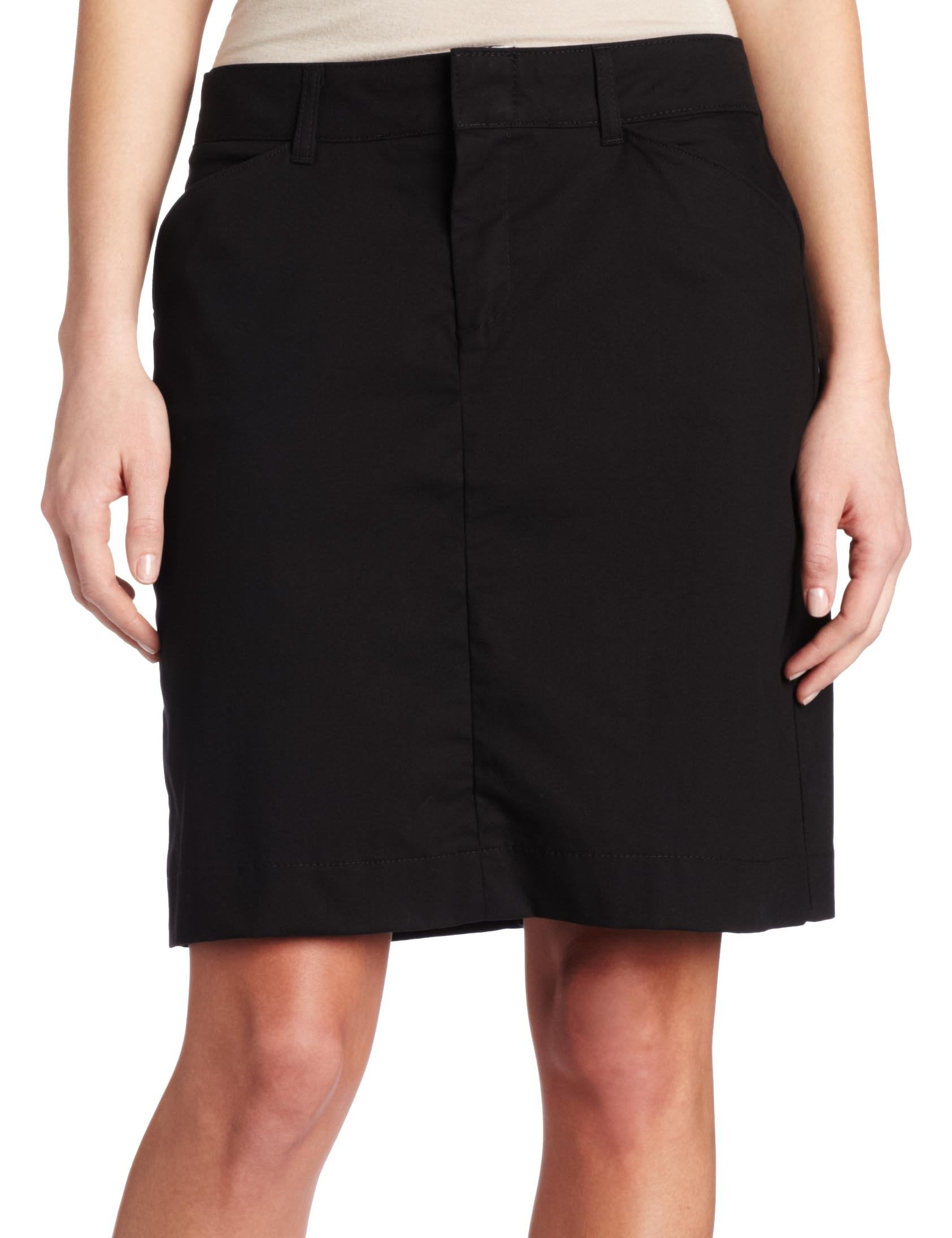 Dickies Women's 20 Inch Stretch Twill Skirt, Black, 10