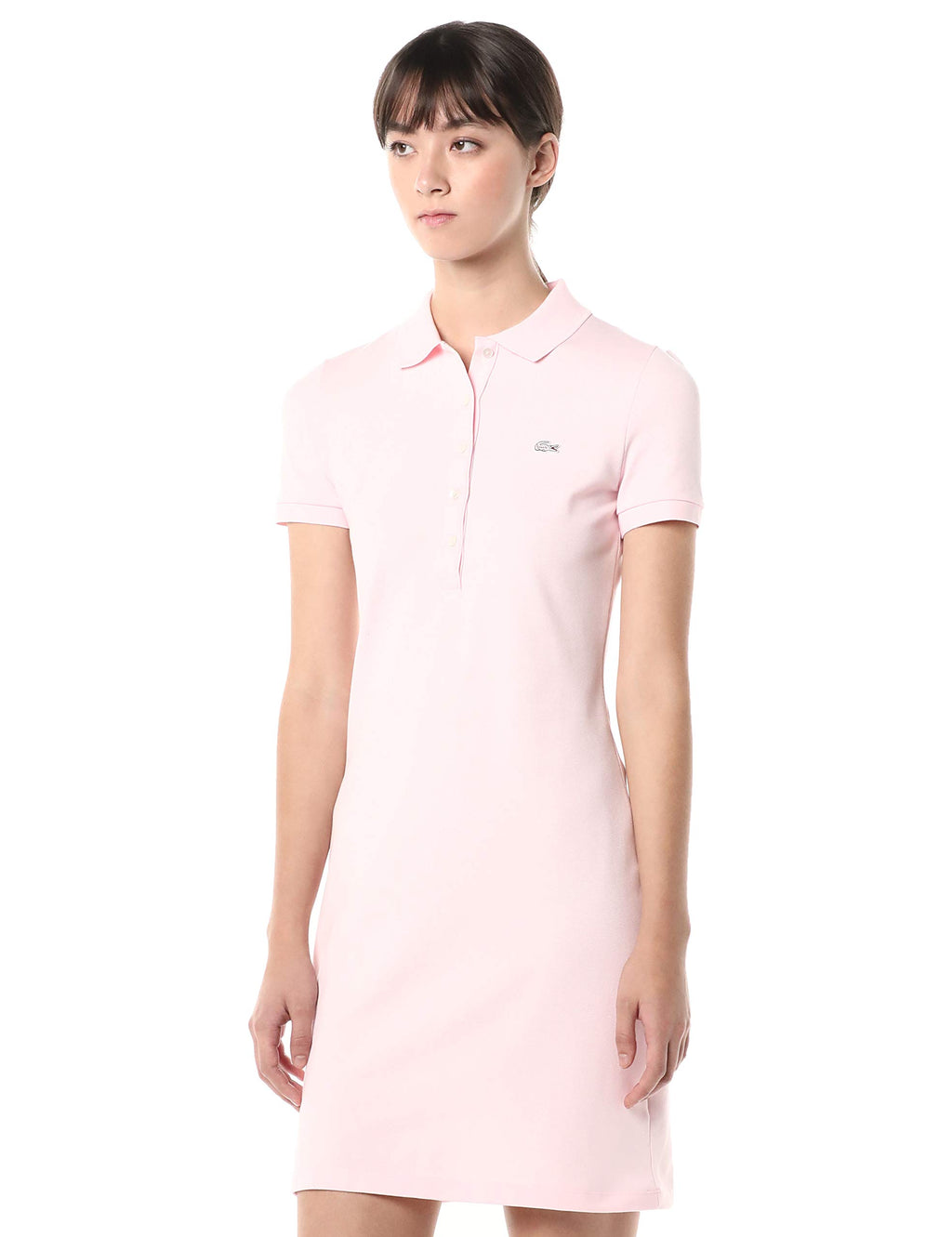 Stretch Cotton Short Sleeve Mini Piqué Polo Dress