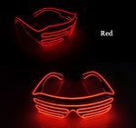 Newest LED Light Up Flashing Rave Shades