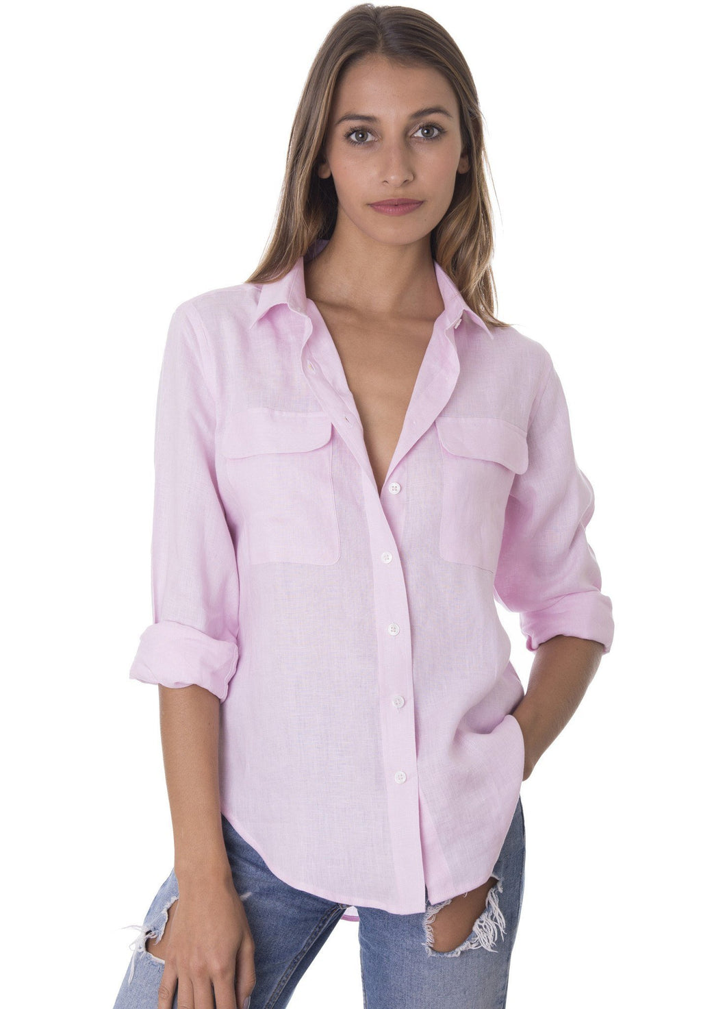 100% Linen Button Down Shirt