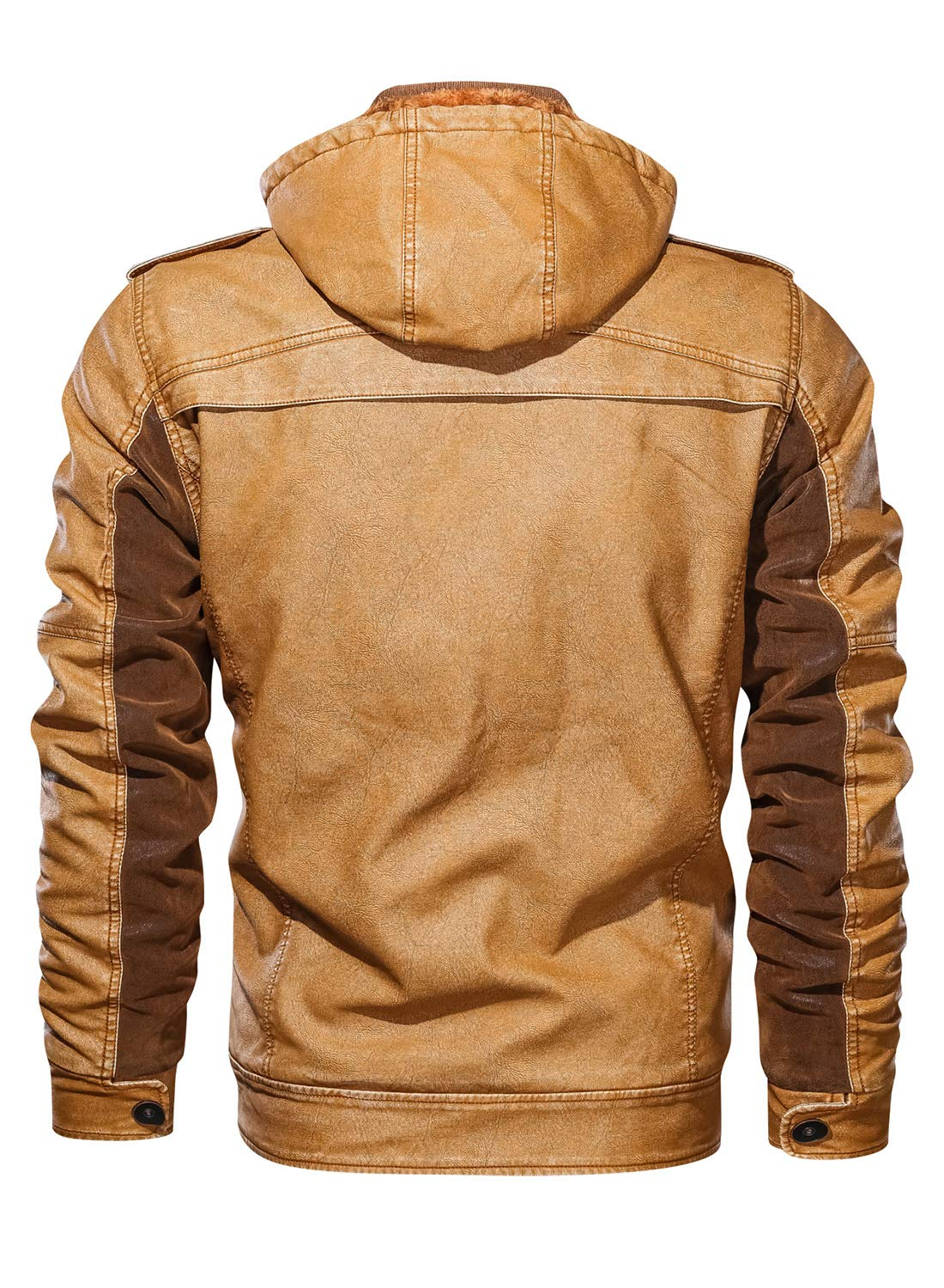Men's Zip Up Slim Faux Leather Motorcycle Bomber