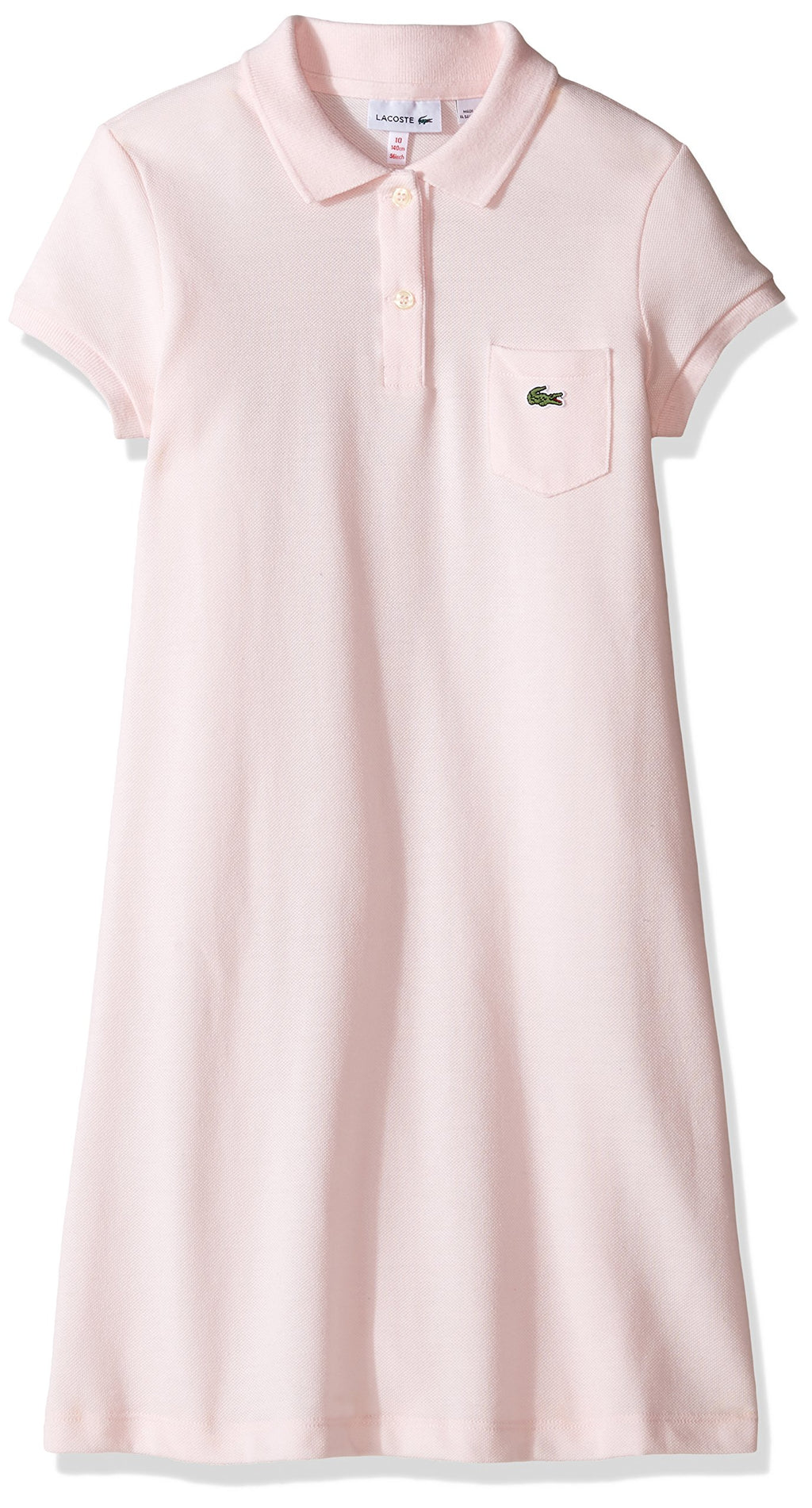 Lacoste Girls' Big Classic Pique Dress with Pocket