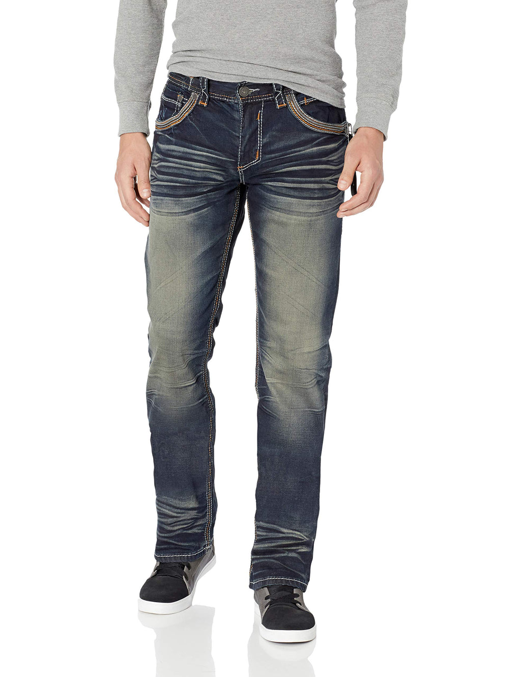 Affliction Men's Blake Fleur Spago, wash, 42