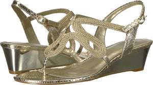 Cannes Platino Metallic Rope sandal