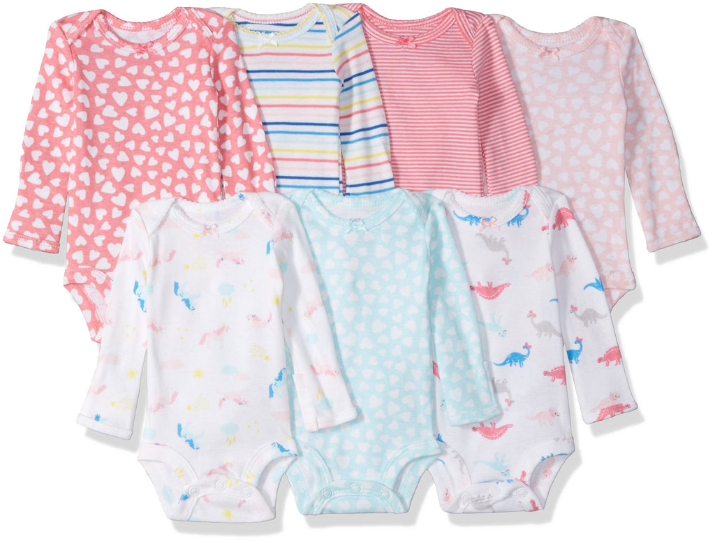 Girls' 7-Pack Long-Sleeve Bodysuit