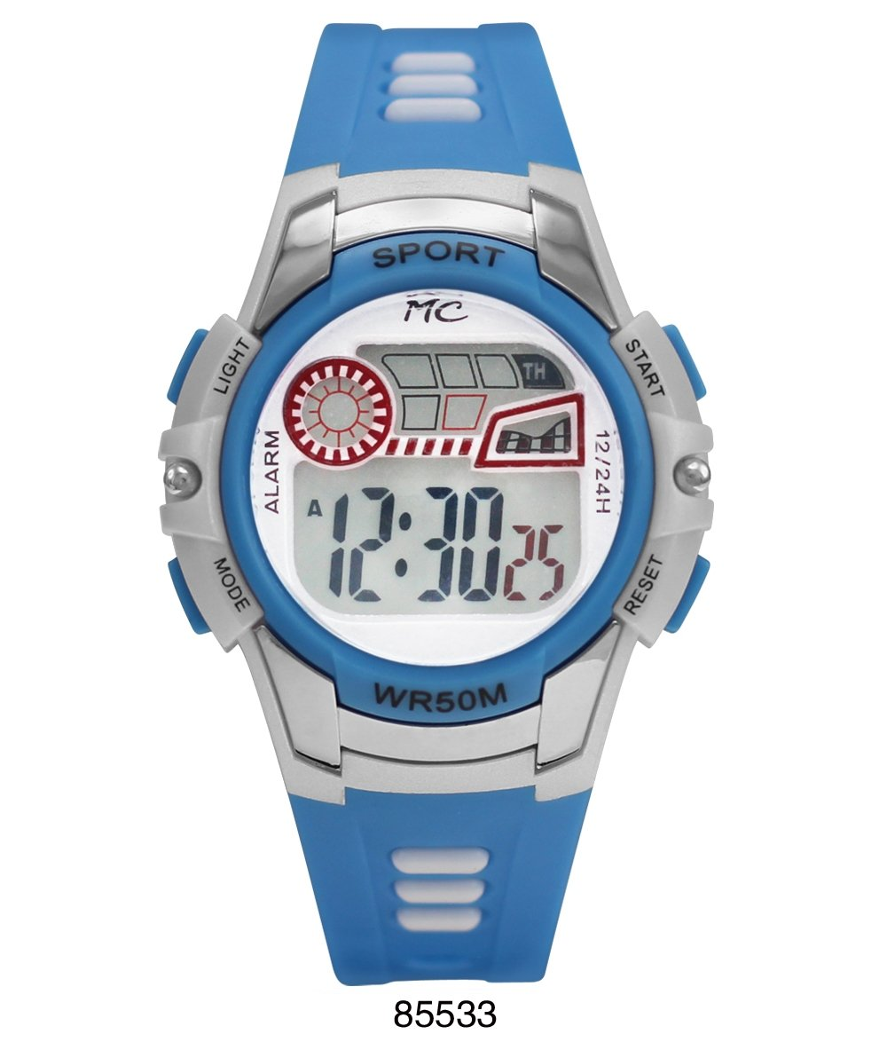 Montres Carlos 5 ATM Blue Digital Sports Watch