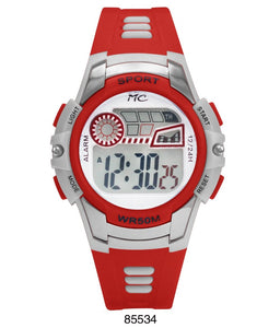 Montres Carlos 5 ATM Red Digital Sports Watch