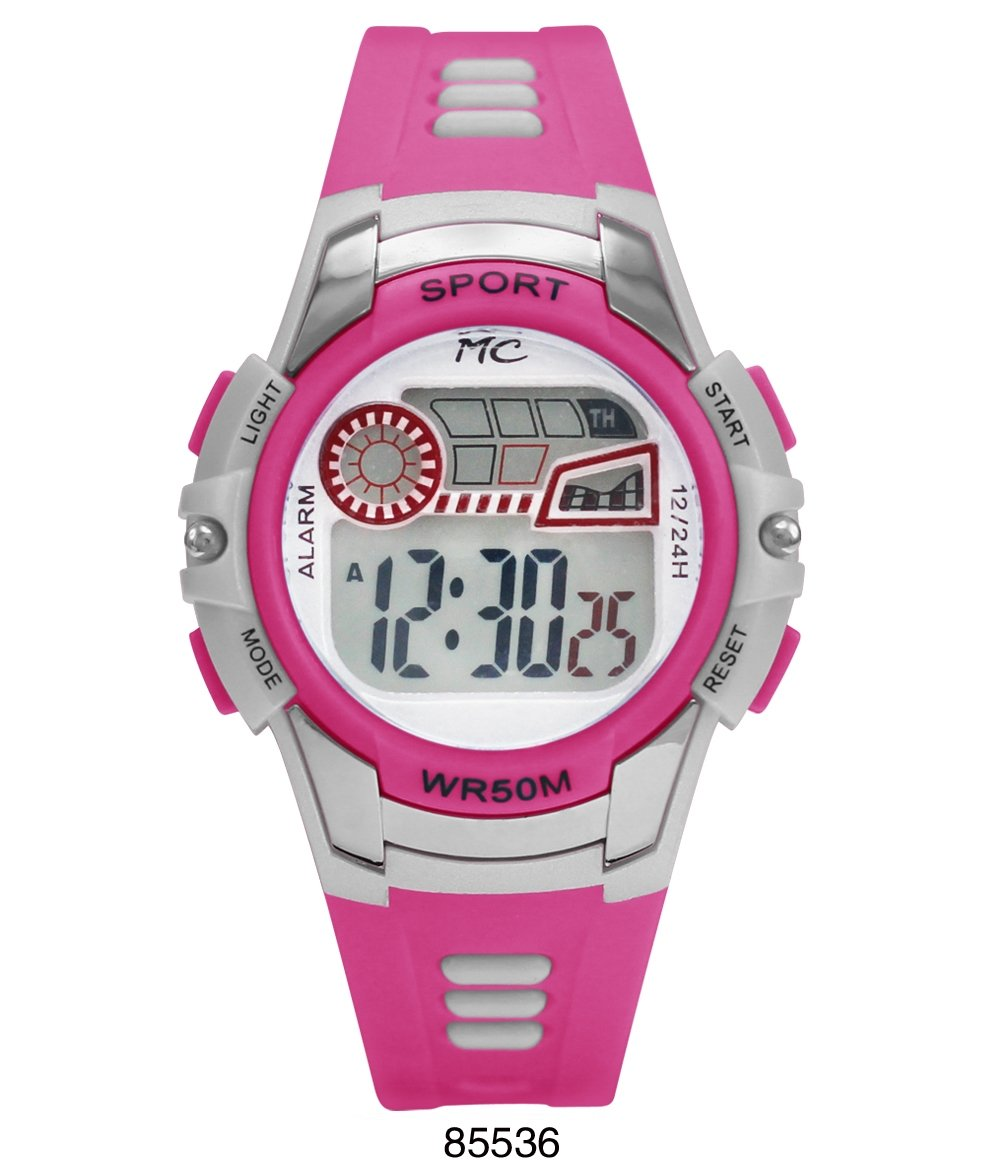Montres Carlos 5 ATM Pink Digital Sports Watch