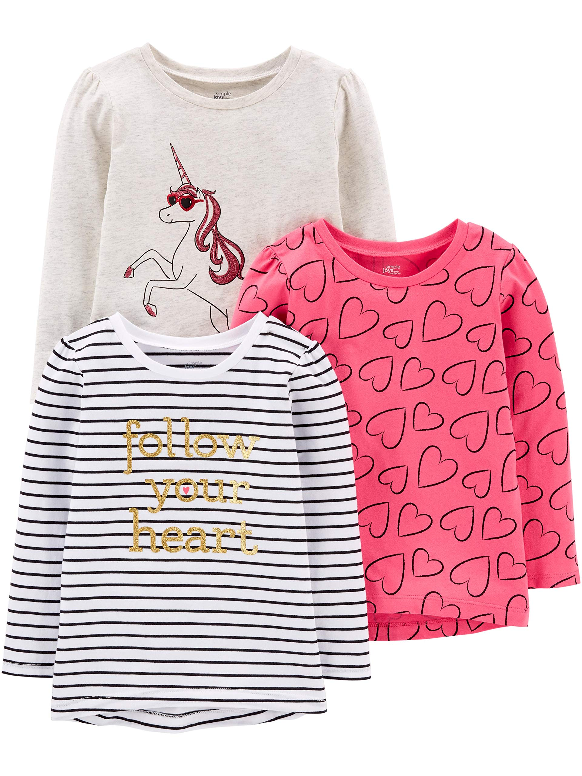Simple Joys by Carter's Girls' Toddler 3-Pack.