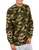 Heavyweight Cotton Long Sleeve Thermal camo top