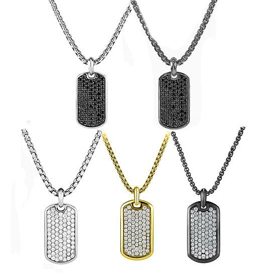 Stainless Steel Designer Inspired Dog-Tag Necklace - 5 Options