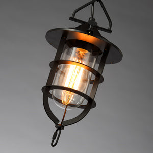 Modern Pendant Lights Glass Shade Wrought Iron Bar Lighting Fixtures Kitchen Antique Mini Ceiling Lamp