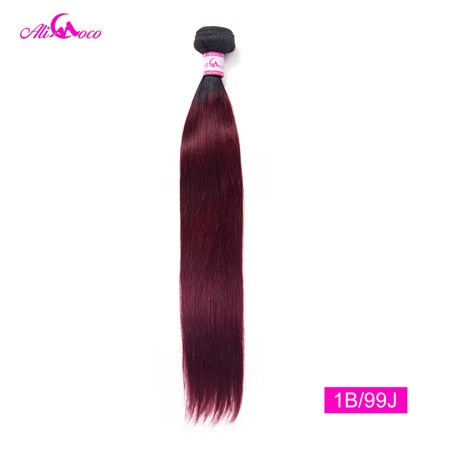 Ali Coco Peruvian Straight Hair 8-30 inch 1/3/4 Bundles Hair Natural