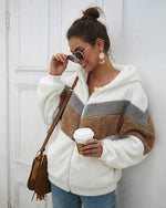 Long Sleeve Thicken Teddy Jacket With Pocket