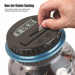 1.8 L Piggy Bank Counter Coin Electronic Digital LCD Counting Coin Jar