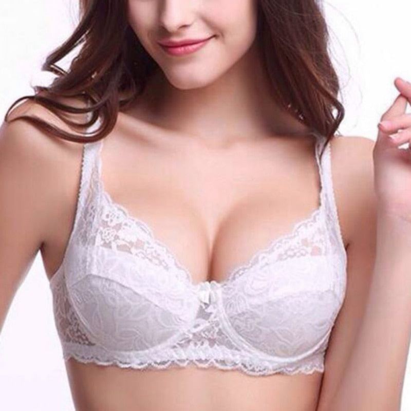 Push Up Bra Underwire 5/8 Cup Lace Brassiere