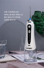 Azdent HF-9 Oral Irrigator + Travel Case Bag USB Rechargeable Portable Water Dental Flosser