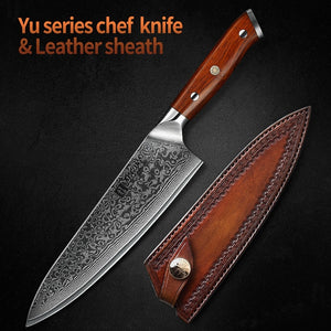 XINZUO 8.5 inch Chef Knives High Carbon VG10 Japanese 67 Layer Damascus Kitchen Knife