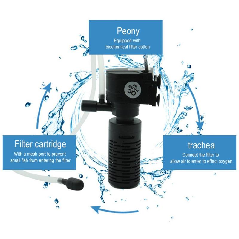 Mini 3W 3 in 1 Filter for Aquarium Purifier Fish Tank Filter High Quality