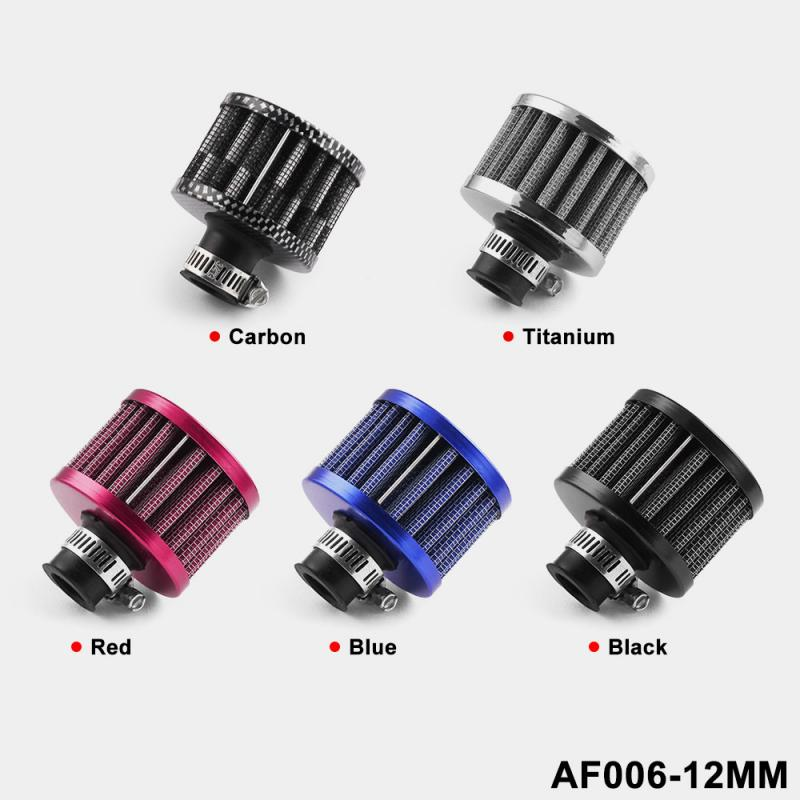 Universal 12mm Car OiL Cold Air Intake Crank Case Turbo Vent Rocker Box Air Filter Car Modification Air Filter Car Modification