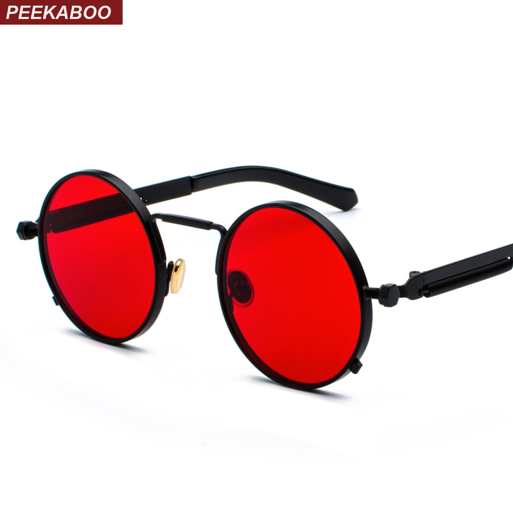 Metal frame retro vintage round sun glasses  UV 400