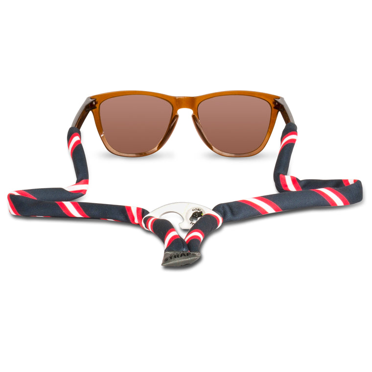 Navy, Red & White Sunglass Straps