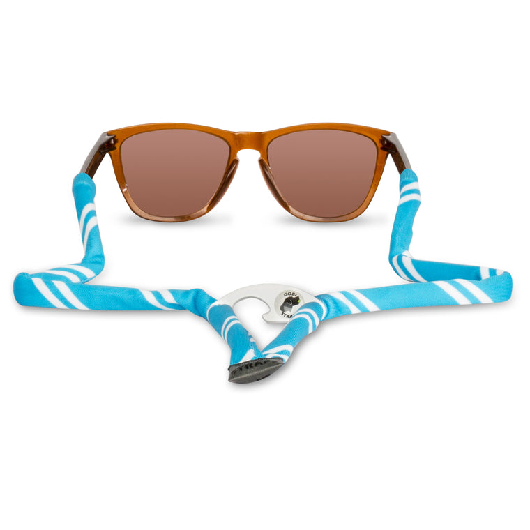 Powder Blue & White Sunglass Straps