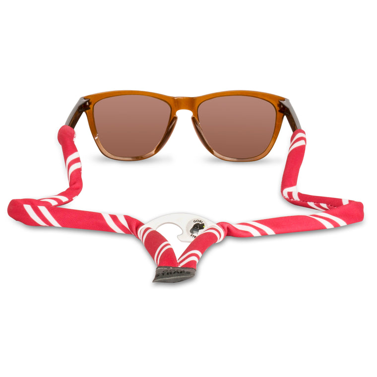 Crimson & White Sunglass Straps