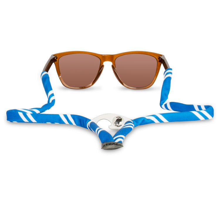 Blue & White Sunglass Straps