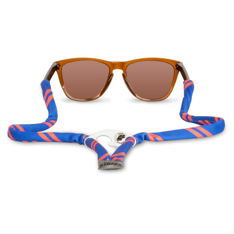 Blue & Orange Sunglass Straps