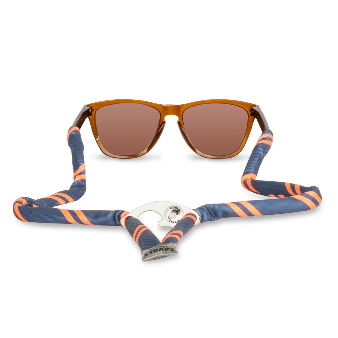 Navy & Orange Sunglass Straps