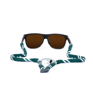 Green & White Sunglass Straps