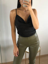 Load image into Gallery viewer, Downtown - Black Basic Cowl Neck Cami