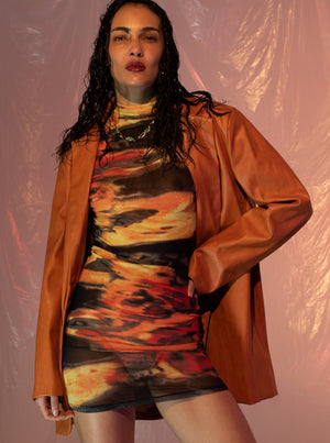 Joelle - Black Basic Corduroy Sweater With Front Zip