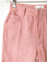 Load image into Gallery viewer, Paige - Dusty Pink Corduroy Wide Legs Trousers