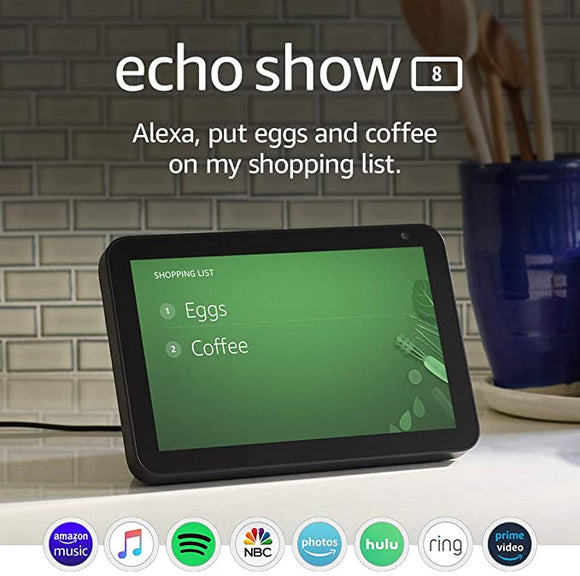 Echo Show 8 - Pantalla inteligente HD 8